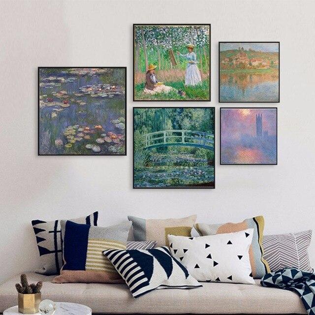Claude Monet Peinture Reproduction Célèbre Artiste Peinture À L