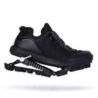 Mechanical running shoes Bouncing Spring shock absorption running Shoes Women men Sneaker Shoes