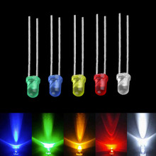 5MM F5 Light Emitting Diode Green Yellow Blue White Red Led Lamp Tricolor Round Package