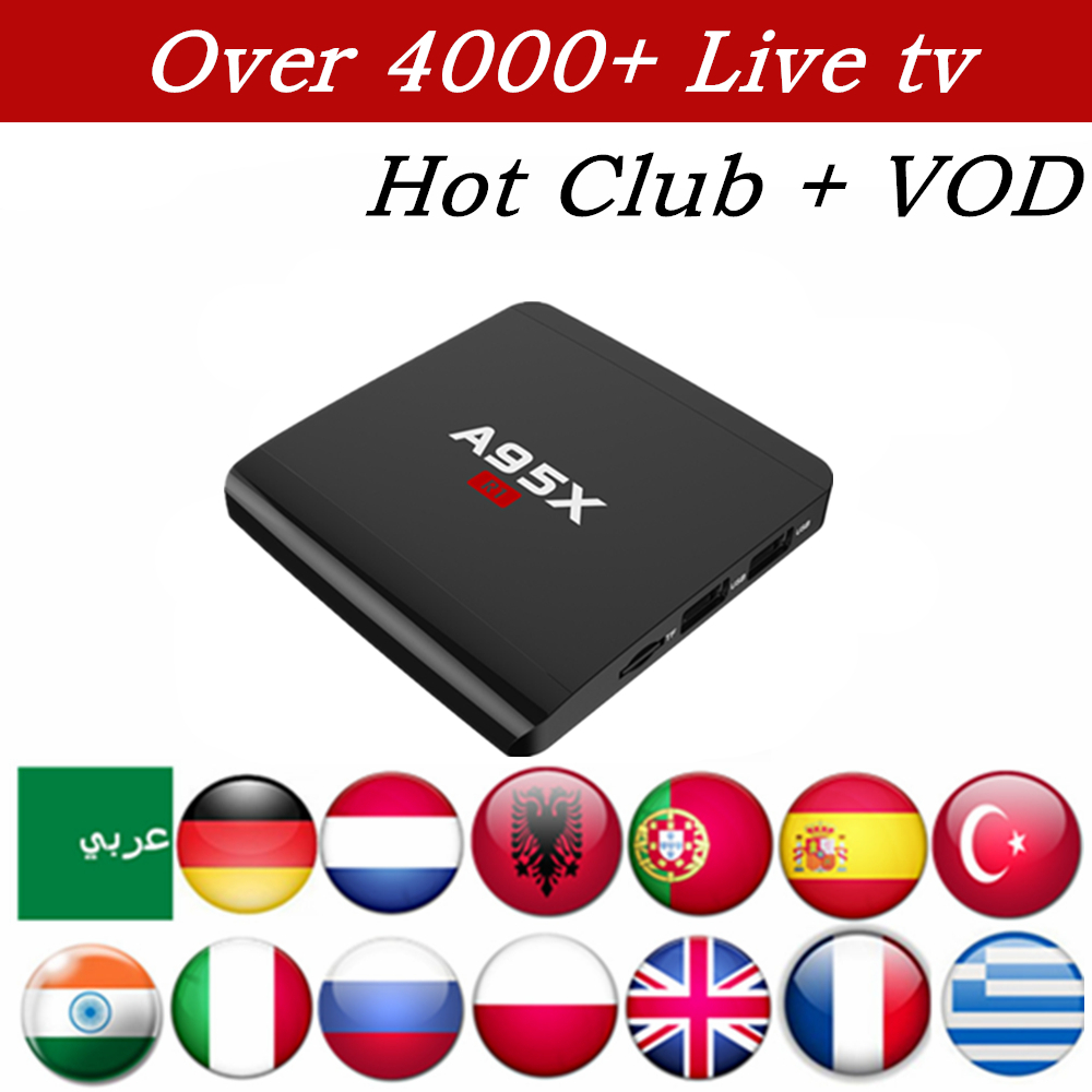 Nordic Swedish Arabic Europe Albanian IPTV RK3229 A95X-R1 Android 6.0 TV Box 1GB/8GB 4K HDMI 2.0 Smart TV Box Media Player gotit cs918 android 4 4 tv box with 1year arabic royal iptv europe africa latino american iptv rk3128 media player smart tv box