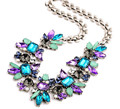 Fashion Vintage Statement Choker Necklace Collier femme Colorful Resin Gem Necklaces & Pendants Maxi Chunky Necklaces