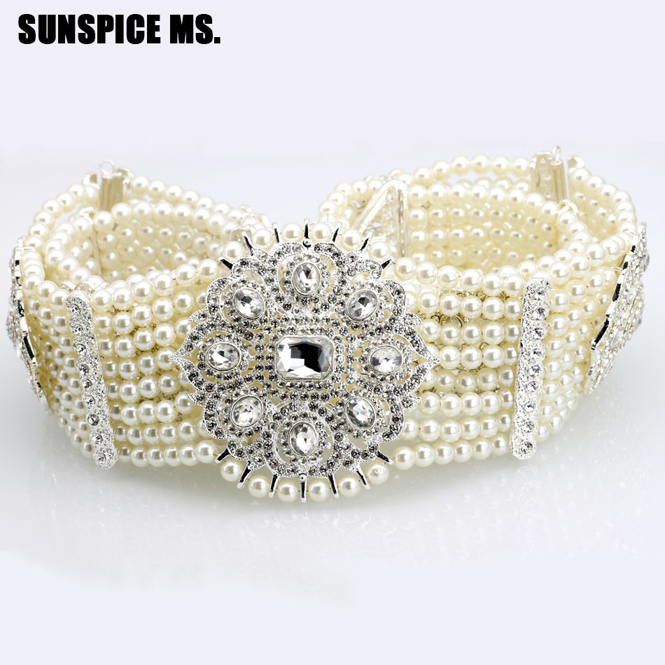 SUNSPICE Caucasus Vintage wedding Dress Belt Women Bridal Waist Chain Deluxe Princess Handmade Bead Crystal Jewelry Body Jewelry sunspice ms классический