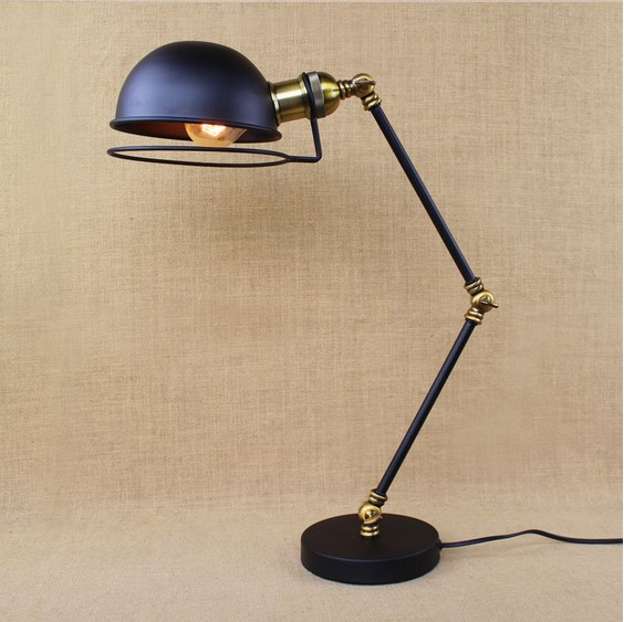 rh loft industrial table lamp for bedroom with long arm desk lamp for living room