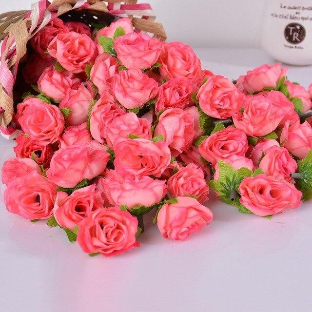 60pcs artificial small silk rose peony flower heads bulk craft for 60pcs artificial small silk rose peony flower heads bulk craft for wedding party decorative wreaths bouquet mightylinksfo