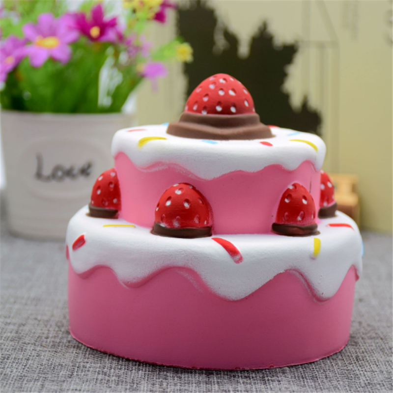 Uvr Mobile Phone Straps Anti-stress Squishy Slow Rising Slow Rebound Toy Ice Cream Cake Squishi Pu Squishy Squeeze Squishes# Cellphones & Telecommunications