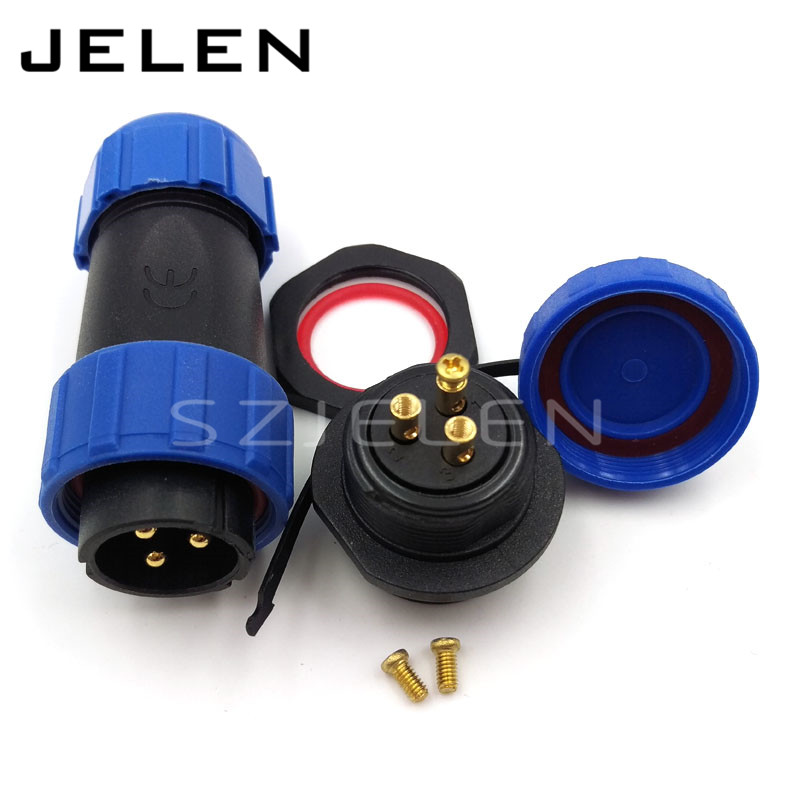 цена SP21, No need welding, waterproof connector 3 pin plug and 3 pin socket, LED waterproof power cable connector, IP68,