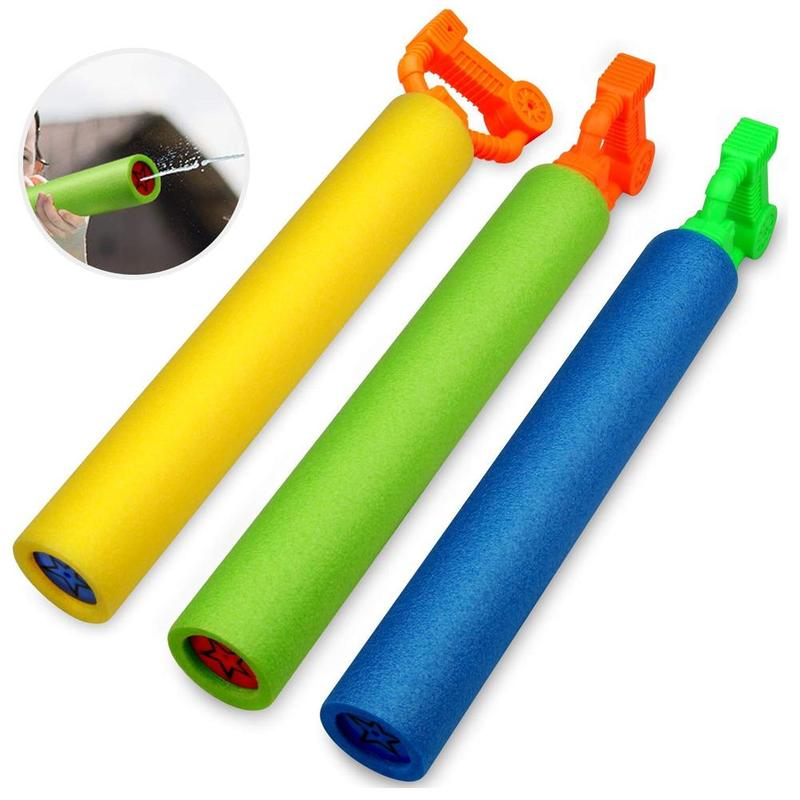 New Foam Water Pistol <font><b>Shooter</b></font> Super Cannon Kids Toy For Children Beach Water Guns Water <font><b>Shooter</b></font> Soakers Blue/Yellow/Green Color image
