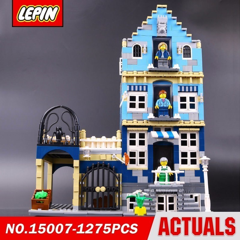 Lepin 15007 European Market 10190 City Street Series Model Building Block Brick Kits Assembling Toys Gift new lepin 22001 pirate ship imperial warships model building kits block briks toys gift 1717pcs
