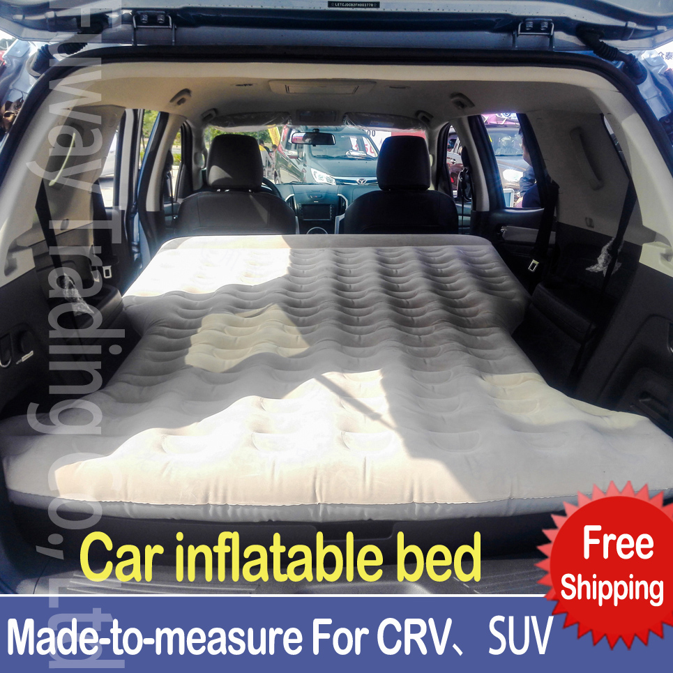 DHL Free Shipping SUV Car Back Seat Cover Car Air Mattress Travel Bed Inflatable Mattress Air Bed  Inflatable Car Bed drive travel deflatable air inflation bed mattress suv camping pvc material car seat cover cushion with car electric air pump