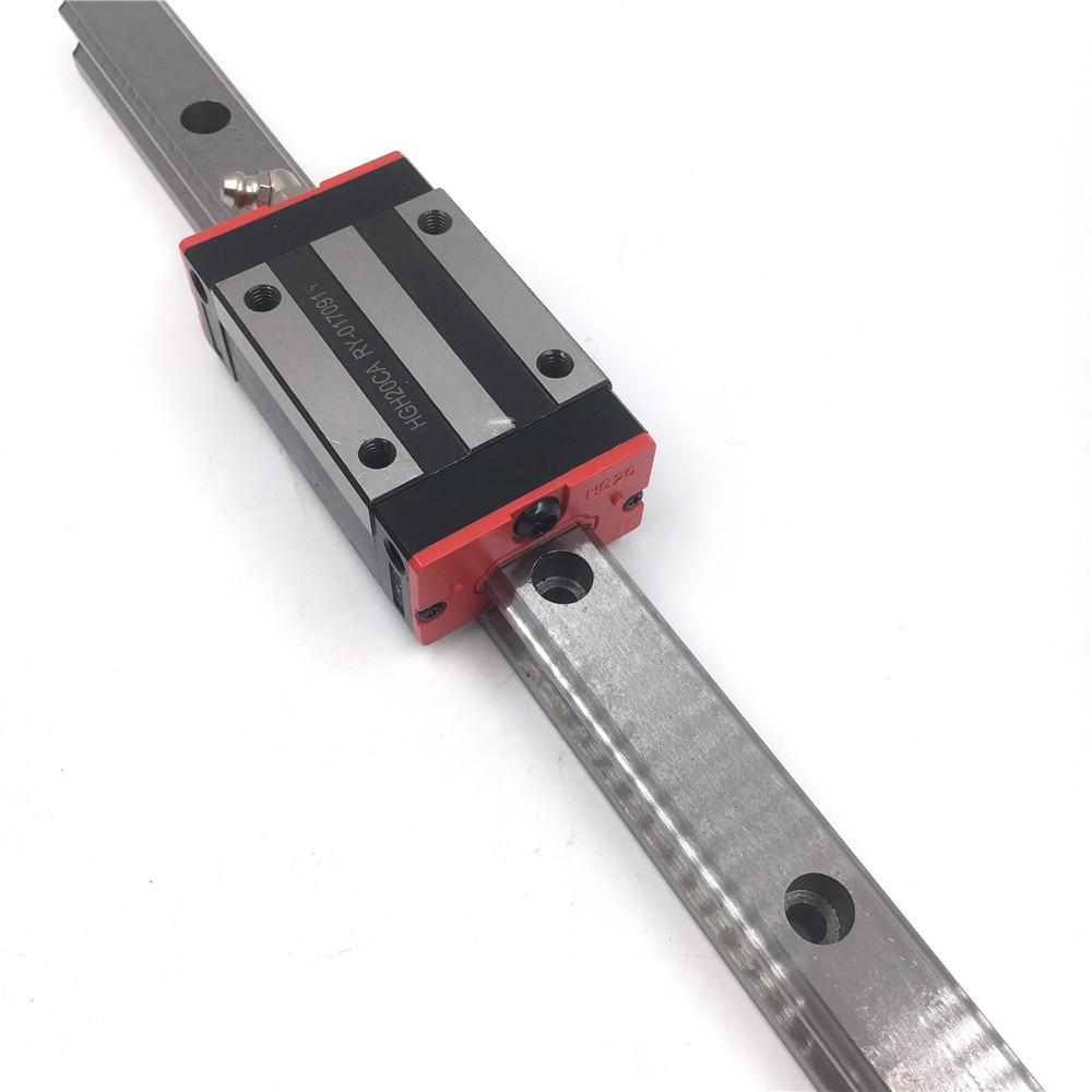 15mm Linear Motion Rail L=1800mm HGR15 Linear Guideway + 2pcs Heavy Load Rail Block HGH15CAZAC Preload Precision Replace HIWIN linear shaft rail high precision guideway linear rail unit