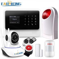 Original G90B WIFI gsm sistema de alarme Teclado Touch IOS Android APP 433 MHz Assaltante Home Wifi/GSM/GPRS /Sistema de Alarme de SMS, earykong