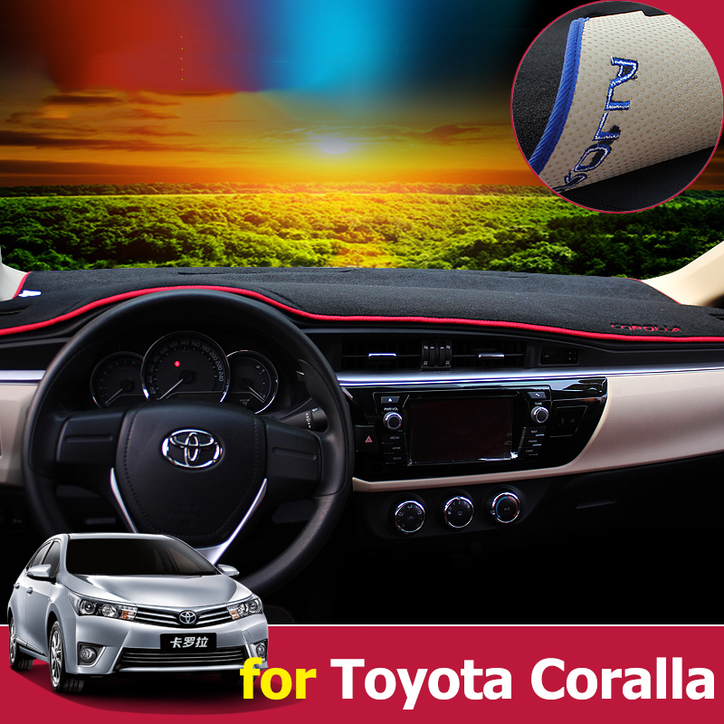 Car Dashboard Cover Dash Mat Pad Sun Shade Dash Board Cover Carpet For Toyota Corolla 2006-2013 2014 2015 2016 2017 Accessories 4pcs for toyota corolla 2014 2015 sun rain shield covers car awnings