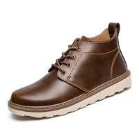 Enlenbenna Brand 2017 Men Boot Men Autumn Spring Boots Russian style Handmade Microfiber Men Ankle Boots Frock Footwear Hot Sale