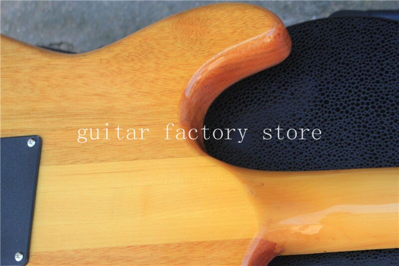 Custom Shop ST electric guitar brown color circle tiger striped maple Double lock tremolo system neck through body free shipping