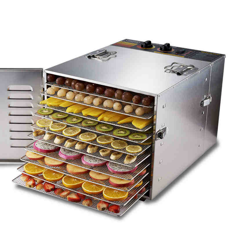 SEPTREE 10 Layers Stainless Steel Food Dehydrator for Mushroom Fruit Vegetable Dryer Machine Home Commercial Food