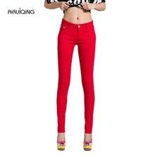 Women's Candy Pants Pencil Trousers 2019 AutumnFall Khaki Stretch Pants For Women Slim Ladies Jean Trousers Female