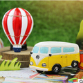 cute kitchen decor Fridge magnets Animal Cute Despicable  fridge magnets    Hot air balloon minibus resin refrigerator magnet