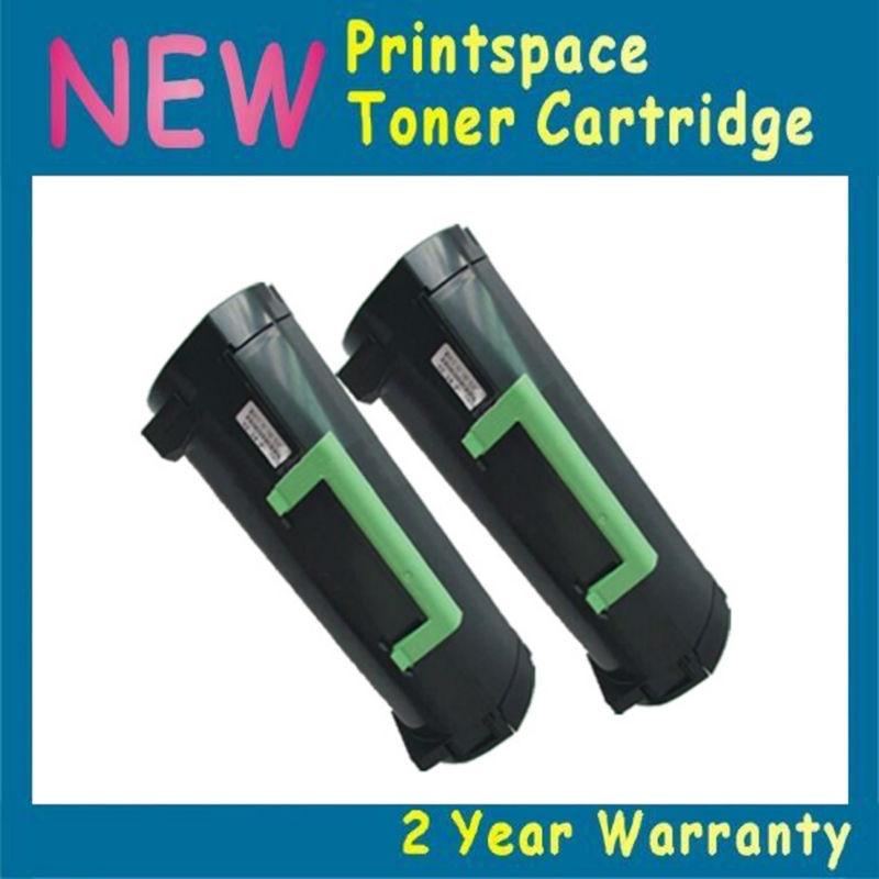 2x NON-OEM Toner Cartridges Compatible For Lexmark MX610 MX610de