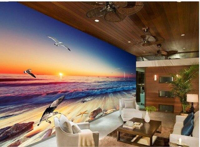 Classic Wallpaper For Walls Beautiful Gorgeous Surf Beach Custom 3d