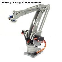 DIY 4DOF робот рука с сервоприводом ABB irb 460 промышленный робот масштаб осевой код цифровой контроль Учебный Эксперимент 4 оси рабочего стола