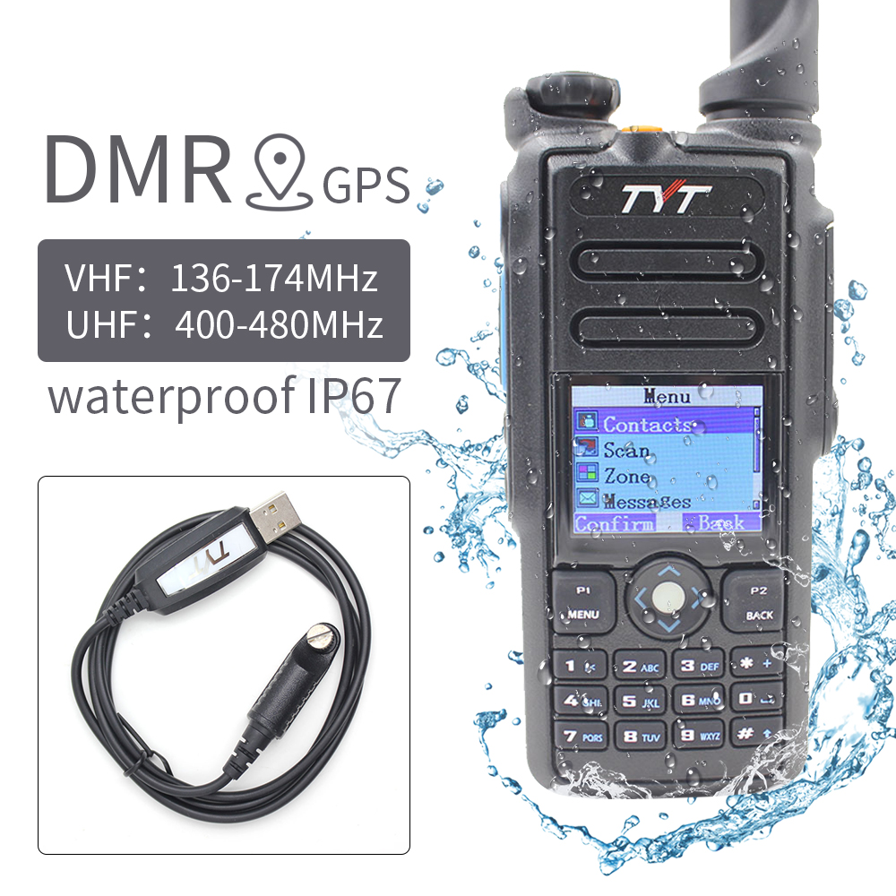 TYT MD-2017 136-174MHz 400-480MHZ DMR Transceiver Design IP67 Waterproof Walkie Talkie