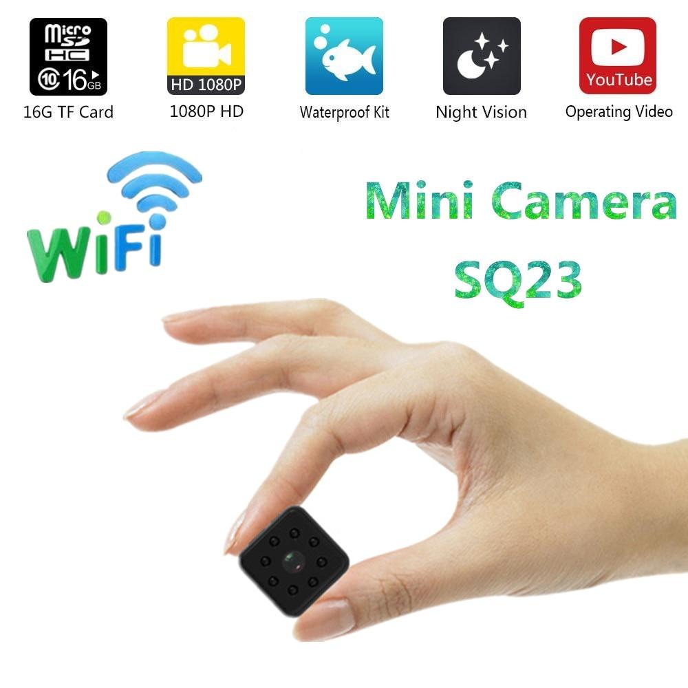 Mini Kamera SQ23 WIFI Upgrad version HD kleine SQ13 cam 1080 p video Sensor Nachtsicht Camcorder Micro Kameras DVR bewegung SQ 13