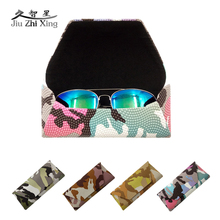 JIU ZHI XING Camouflage Hard Big Case For Sunglasses Glasses Case Box Eyewear Container Vintage Sunglasses Cases Hard Covers цена и фото