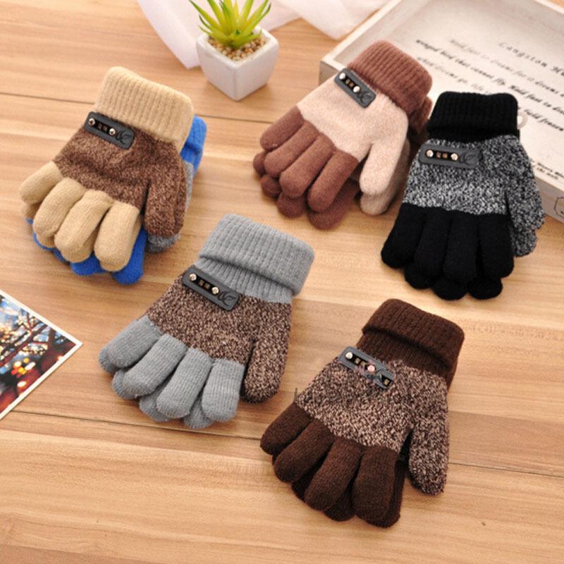 Handschuhe & Fäustlinge 1 Para Beliebte Verkauf Jungen Kinder Warme Strickhandschuhe Kinder Winter Dicke Vollen Handschuh Fingerschutz Mode