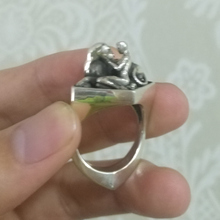 ZABRA Solid Luxury 925 Silver Customized Ring Beauty And The Beast Punk Rock Vintage Rings For Men Women Luxury Jewelry