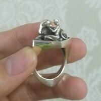 Zabra одноцветное роскошь серебра 925 индивидуальные кольцо Красота и чудовище панк рок Винтаж Кольца для Для мужчин Для женщин Роскошные ювел