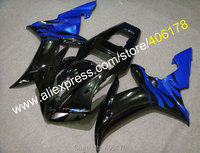 Hot Sales,For YAMAHA YZF R1 2002 2003 YZF R1 02 03 YZF R1 Blue Black ABS Plastic motorcycle Fairing (Injection molding)
