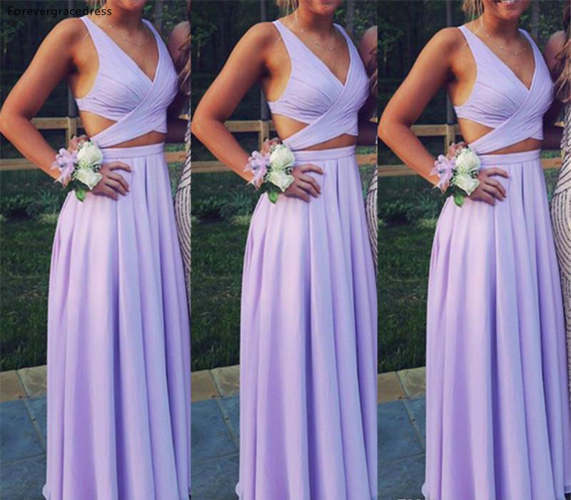 2019 Beautiful   Bridesmaid     Dress   Lavender Lilac Summer Country Garden Formal Wedding Party Guest Maid of Honor Gown Plus Size