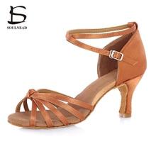 Brand New Women Dance Shoes For Ballroom Latin Tango Salsa Dancing Shoes Satin Matterial Soft Bottom