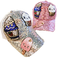 USA Russia Spring Summer Young Girl  Sequins Leisure Sunshade Hat Mesh Hip-Hop Campus Hat Sun Hat Woman Sun Street Dance Women