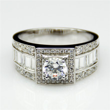 Round 1ct Lab Created Diamond Wide Band Estate 9k White Gold Baguette Cut Accent Esdomera Moissanites Men's Wedding Band