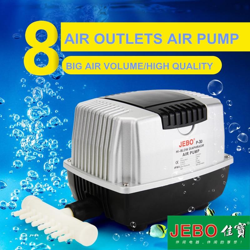JEBO P30 10W Air Compressor Large Volume Air Pump Ultra Quiet Oxygen Increase Machine Oxygen Rinse
