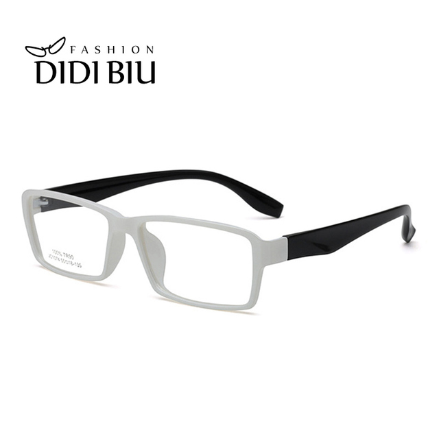 DIDI Rectangle White Glasses Clear Spectacles TR90 Titanium Optical ...