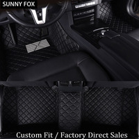 SUNNY FOX car floor mats for Citroen C5 C4 Air Cross Picasso C elysee DS5 leather Anti slip car styling carpet liner