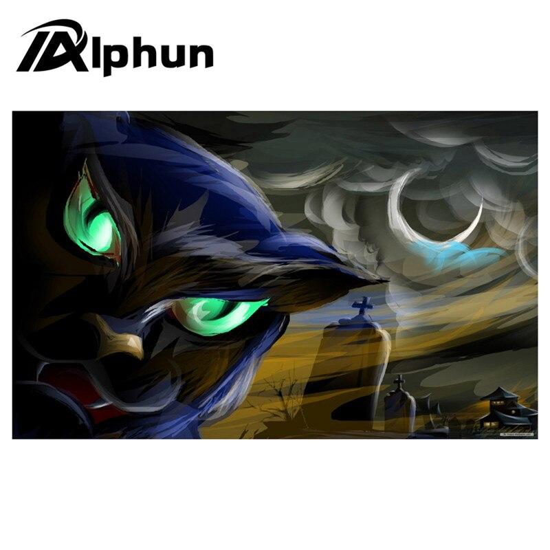 Alphun DIY Custom Halloween Mouse Pad 6 size Rubber Anti-Skid Pad To Mouse Notebook Computer Gaming Mousepad Keyboard Mat