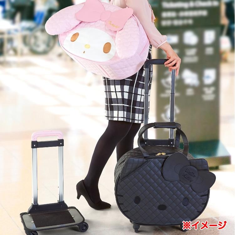 IVYYE 1PCS Melody KT Fashion PU Anime Luggage Case Travel Bag Reusable Tote Handbags Cartoon Pouch