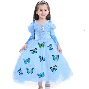 Новое рождественское платье для маленьких девочек; платье Анны и альсы; детская одежда; Vestidos; детское платье; праздничные платья принцессы д...