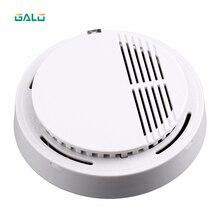 Детектор дыма 85dB Пожарная сигнализация Датчик безопасности Независимый беспроводной монитор дыма
