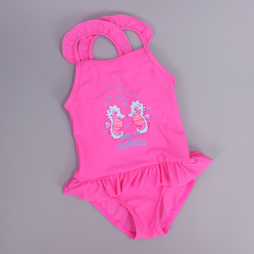 2-4 Years Baby Girls Swimwear Summer Girls Swimsuit Butterfly Pink bathing suit Kids One Pieces Swimming Suit Baby Clothing