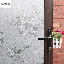 Electrostatic Free Glue  Glass Stickers Bathroom Foil Bathroom Transparent Opaque Office Cellophane
