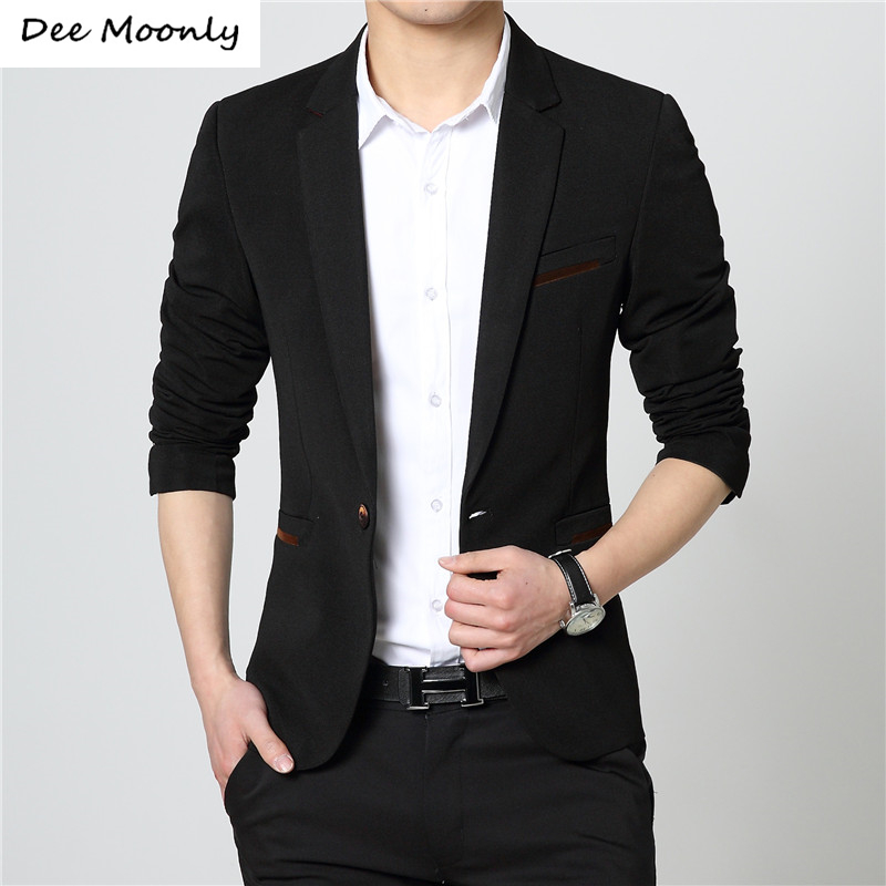 DEE MOONLY Costume Homme Mens Blazer Pattern Cheap Men Blazers Awesome Mens Blazer Pattern