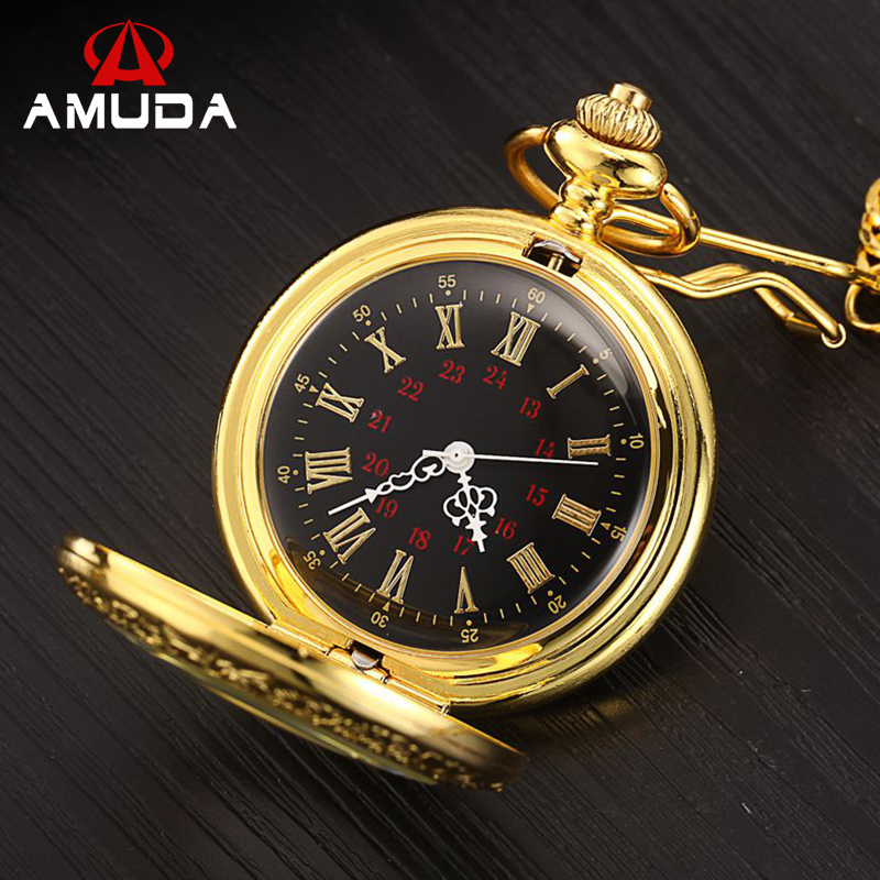 2016 Vintage Gold New Soviet Sickle Hammer Style Quartz Pocket Watch Men Women Pendant kyrgyzstan steel sickle weeding sickle blade length 16 5c garden agricultural tools