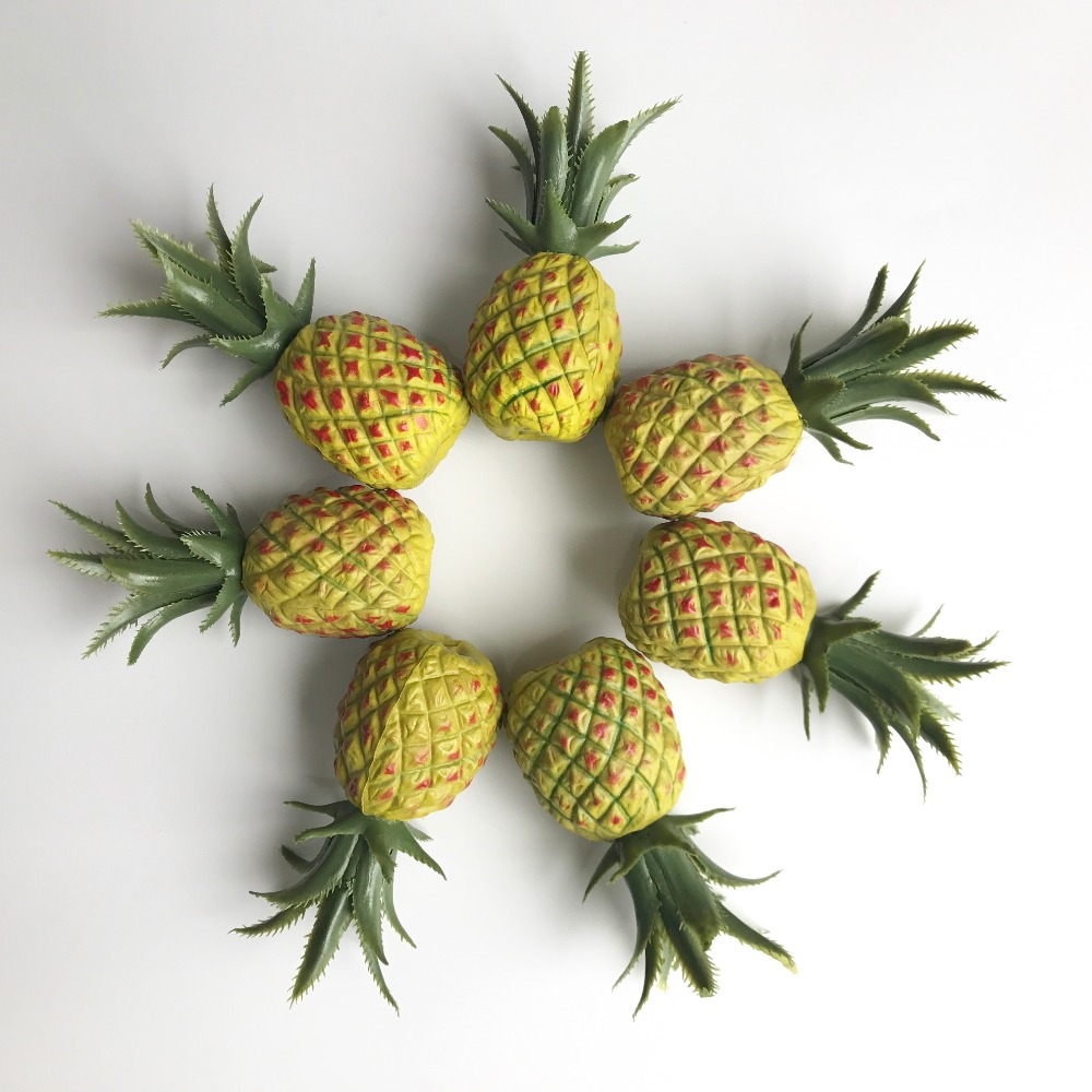Artificial Mini Pineapple Home Shop Decoration Fruit Yellow Pineapples Fake NEW