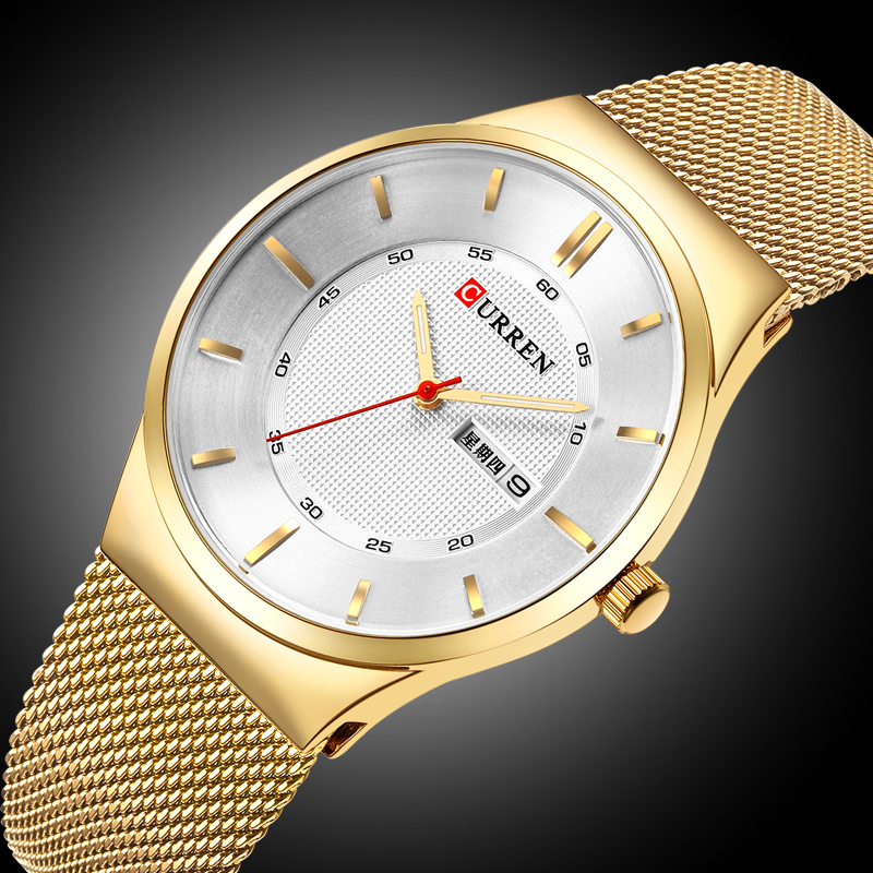 CURREN New Fashion&Casual Simple Men Business Watches Classic Dial Stainless Steel Quartz Wristwatches Clock curren men s fashion casual simple canvas cool quartz sports watches