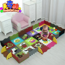 mei qi cool 30*30cm/32*32CM Baby Puzzle Carpet Baby Play Mat Floor Puzzle Mat EVA Children Foam Carpet Mosaic Floor Play Mats(China)
