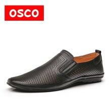 0dbd9220963 Оско полые вождения ленивые туфли Лоферы для женщин модная мужская обувь  ботинки из шероховатой кожи летние
